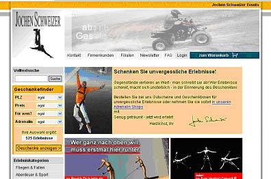 Jochen Schweizer Erlebnisgeschenke und Events