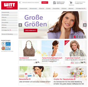 Screenshot Witt-Weiden Shop
